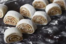 Crude Dough Cinnamon Rolls