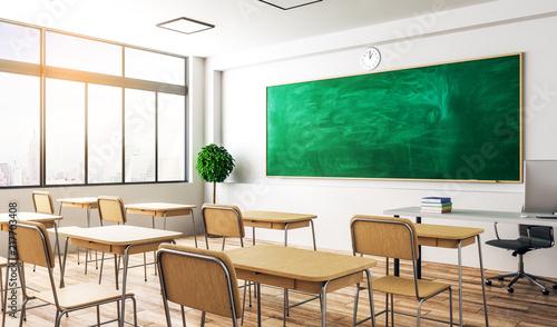 Pinturas sobre lienzo  Modern classroom interior