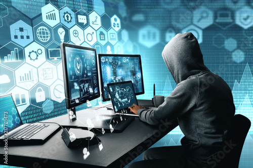 Fotografie, Obraz  Hacking and thief concept