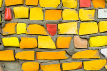 Yellow Old Outdoor Mosaic