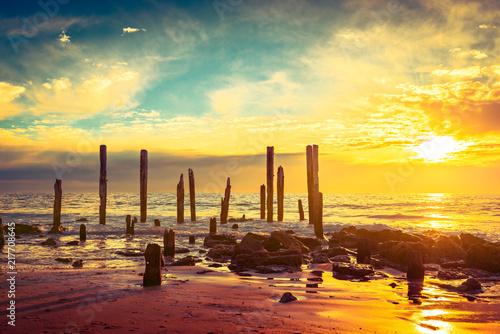 Poster Oceanië Port Willunga Beach, Adelaide