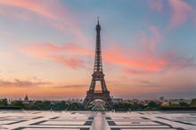 Lever De Soleil Paris Tour Eif...