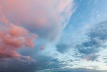 Pink Clouds And Blue Skies At ...
