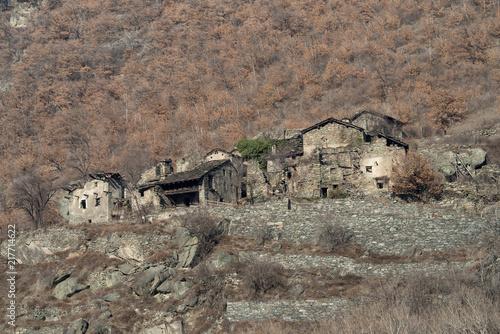 Foto op Aluminium Rudnes Ancient village ruins