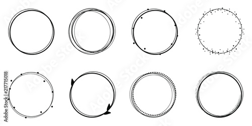 Obraz Set of circle frames, sticker - fototapety do salonu