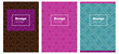 Dark Multicolor vector style guide for notepads.