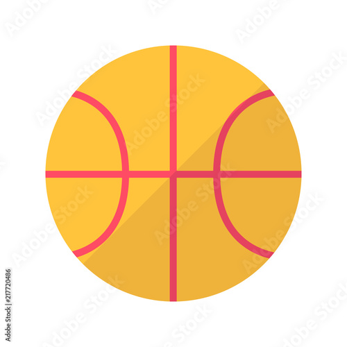Fotografiet  Basketball Flat Icon