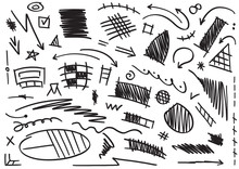 Mixed Shapes Brush. Arrow, Sketch, Ellipse, Star, Triangle, Round