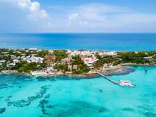 An Aerial View Of Isla Mujeres...