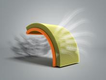 Car Air Filter 3d Render On Gr...