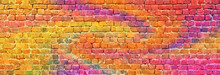 Colorful Brick Wall Background...