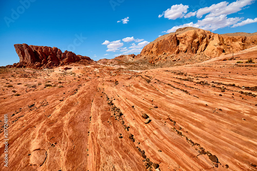 Deurstickers Centraal-Amerika Landen Beautiful rock formations in the Valley of Fire State Park, Nevada, USA.