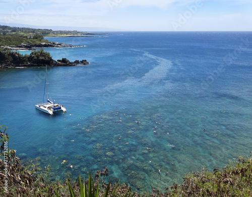 Staande foto Oceanië A Reef Popular for Snorkeling, Honolua Bay, Maui, Hawaii