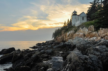 Sunset At Bass Harbor Lighthou...