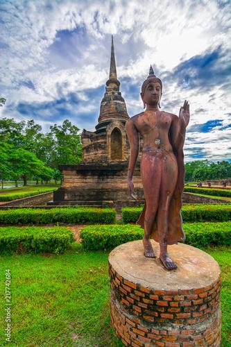 Fototapeta Wat Sra Sri and Tra Pang Tra Klian , Sukhothai Historical Park, Sukhothai, Thail