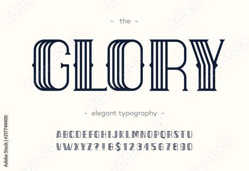 Vector glory art deco font Wallpaper Mural