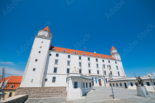 Courtyard of Medieval Castle in Bratislava, Slovakia Poster