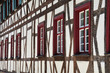 half-timbered facade of historic building