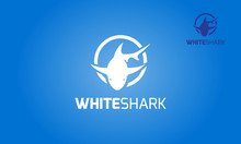 White Shark Vector Logo Template. Modern Professional Shark Vector Logo Illustration.