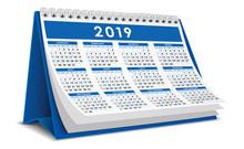 Calendar Desktop 2019 In Blue