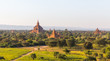 Leinwanddruck Bild - Bagan temples, Myanmar