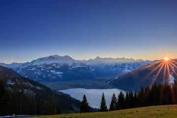 Sonnenuntergang Zell am See in Österreich