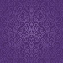 Violet Purple Vintage Seamless...