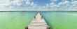 "Panorama of ""kaan luum"" lagoon dock"
