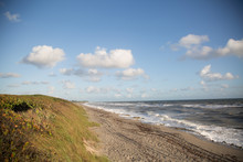 View Of An Empty Beach.