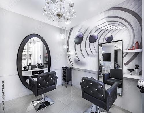 Modern bright beauty salon or baber shop. Hair salon ...