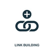 Link Building creative icon. Simple element illustration. Link Building concept symbol design from web development collection. Perfect for web design, apps, software, print.
