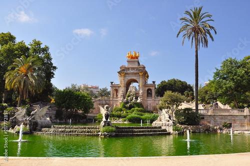 Papiers peints Barcelona Cascade fountain in Ciutadella park, Barcelona, Spain
