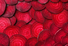 Cut Beets As Background. Backd...