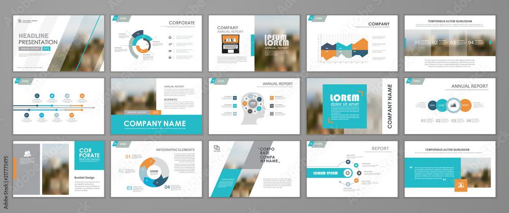 Fototapeta Abstract business brochure set