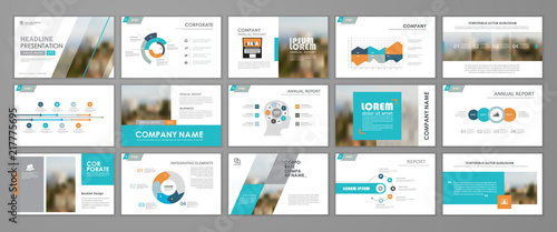 Fototapeta Abstract business brochure set obraz