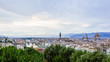 Panoramic View of Florence, Italy at Dusk