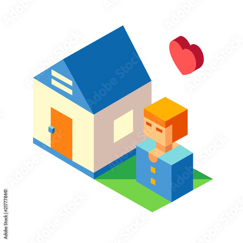 Foto  Residence Isometric illustration