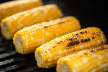 Side Close Up On Corn On The C...