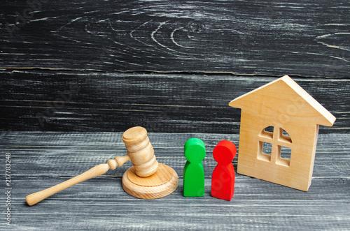 Fotografie, Obraz  clarification of ownership of the house