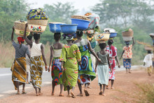 African Women Carrying Bowls O...