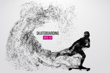 Silhouette Of A Skateboarder. ...