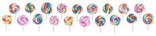 Set Of Tiny Colorful Swirl Lol...