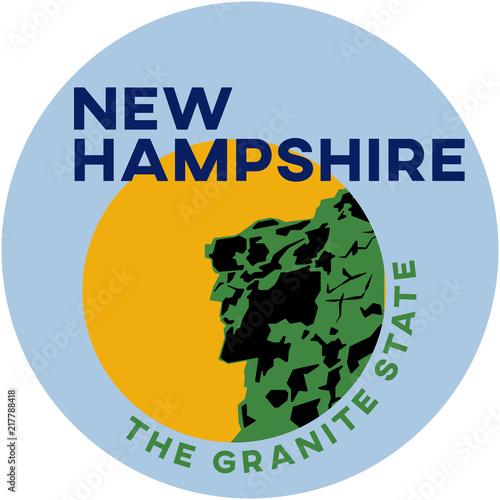 new hampshire: the granite state | digital badge Canvas Print
