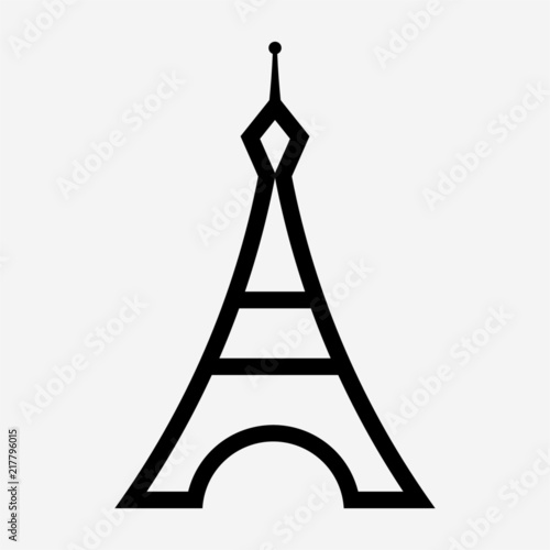 Outline Eiffel tower pixel perfect vector icon Plakat