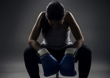 Black Female Wearing Boxing Gl...