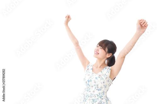 Fotografie, Obraz  リフレッシュをする若い女性