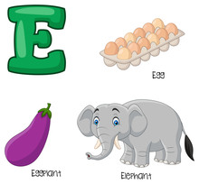 Illustration Of E Alphabet