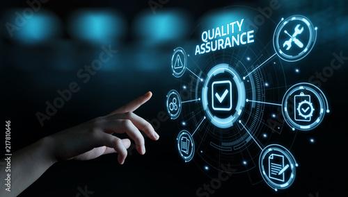 Quality Assurance Service Guarantee Standard Internet Business Technology Concep Canvas Print