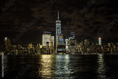 New York Skyline at night. Slika na platnu