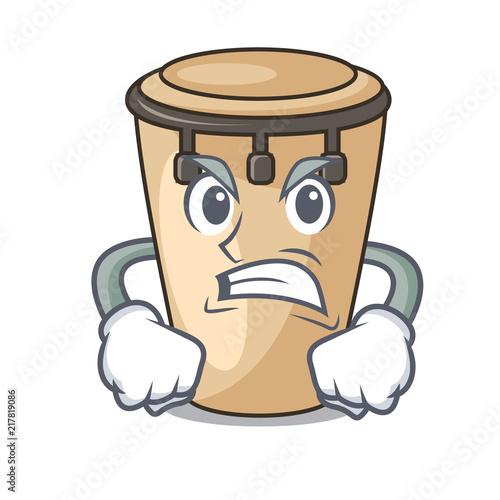 Photo Angry conga mascot cartoon style